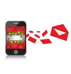 Mobile Phone with New Year background sends messag vector image vector image
