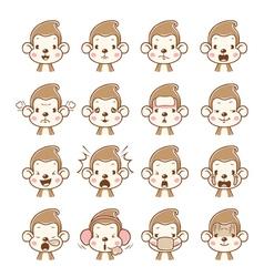 Monkey Emoticons set vector image