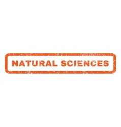 Natural Sciences Rubber Stamp vector