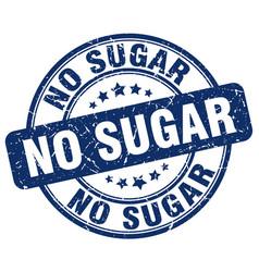 No sugar blue grunge stamp vector
