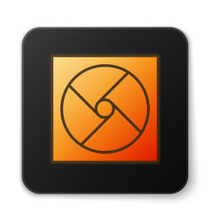 Orange glowing neon ventilation icon isolated on vector