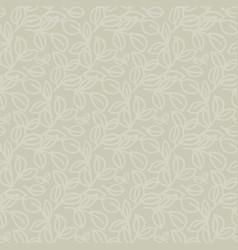 Pale natural eco color leaves seamless pattern vector