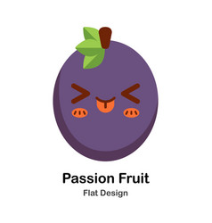 passion fruit flat icon vector image