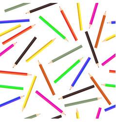 Pencils pattern seamless schools background wood vector