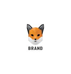 polygonal fox logo vector image