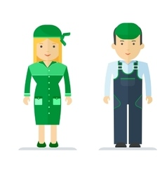Profession servise man and woman vector