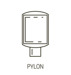 pylon isolated line icon exterior or interior vector image