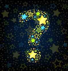 Question mark cartoon star colored vector image
