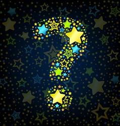 Question mark cartoon star colored vector