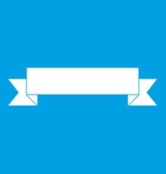 Ribbon icon white vector