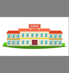 School building modern education city vector