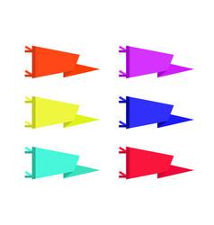 set adventure pennants flags vector image