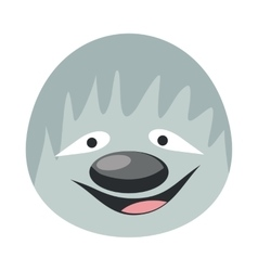 Sloth Face in Flat Design vector image