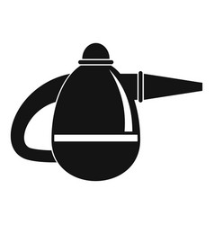 Small hand vacuum cleaner icon simple style vector