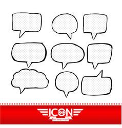 speech bubble hand drawn design vector image