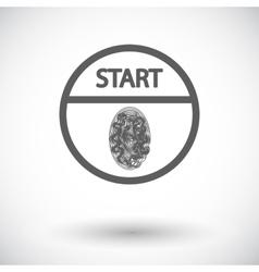 Start-stop button is protected fingerprint vector