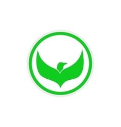 Sticker Eagle flies logo vector