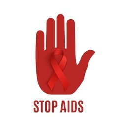 Stop AIDS background template vector image
