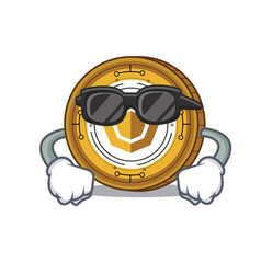 Super cool komodo coin character cartoon vector