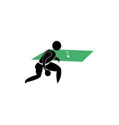 Table tennis player icon clipart design vector
