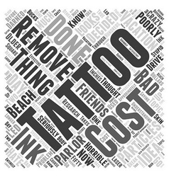 Tattoo removal word cloud concept vector