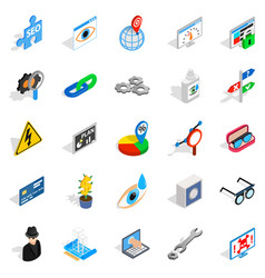 Technology of the future icons set vector