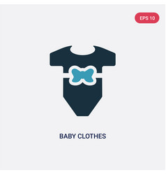 Two color baclothes icon from kid and baby vector