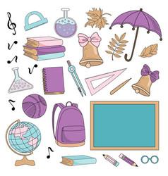 underwater school supplies school vector image