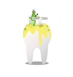 unique and cute dental health logo vector image