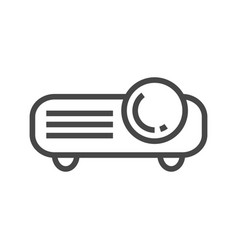 video projector line icon vector image