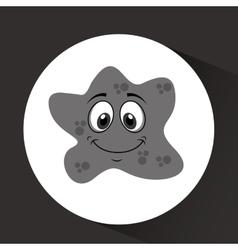Virus character design vector