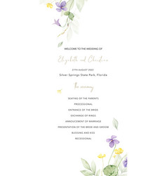 watercolor hand painted wedding invitation card vector image