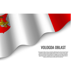 Waving flag on transparent background vector