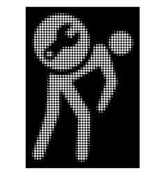 white halftone service courier icon vector image