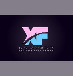 Xf alphabet letter join joined letter logo design vector