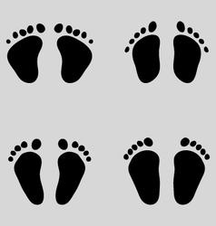 Baby feet vector