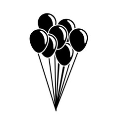 bunch of balloons flying decorative celebration vector image vector image