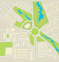 City map conceptual vector