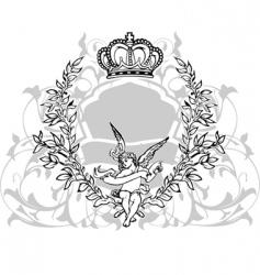 crowned cupid vector image