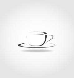 Cup Black Icon vector image
