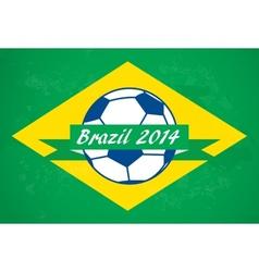 Brazilian football background vector image