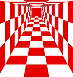 Chess board without chess pieces vector image vector image