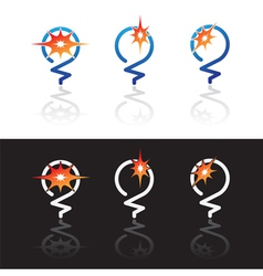 light bulbs symbols vector image vector image