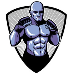 MMA fighter pose vector image vector image