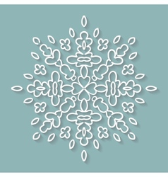Paper lace doily decorative snowflake round vector image