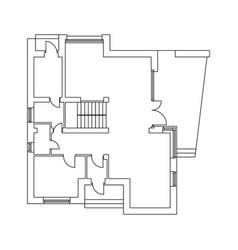 plan cottage vector image