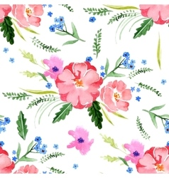 watercolor floral seamless vector image