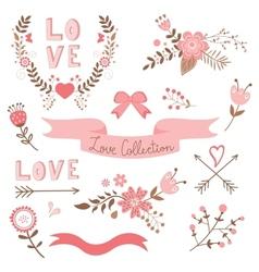 Elegant love collection vector