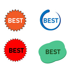 label with inscription best price on white vector image