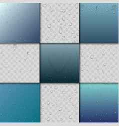 Seamless rain water drops and splash pattern vector